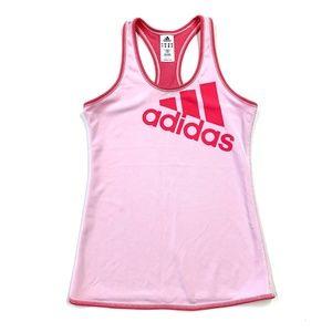 Pink Adidas Racerback Logo Tank Top